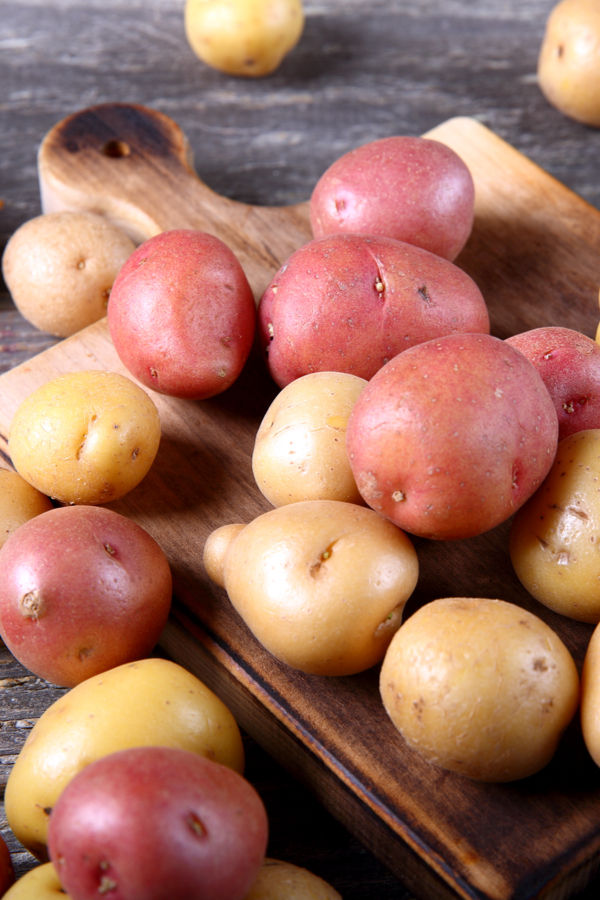 red and yellow potatoes