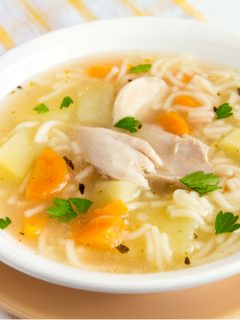 featured chicken noodle soup