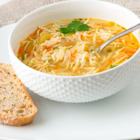 small batch chicken noodle soup