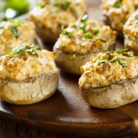 featured stuffed mushrooms